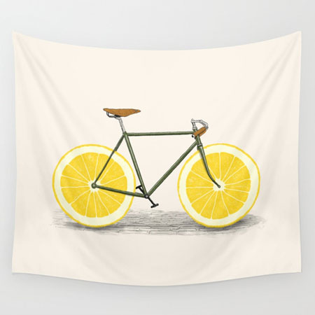 tenture murale dessin vélo